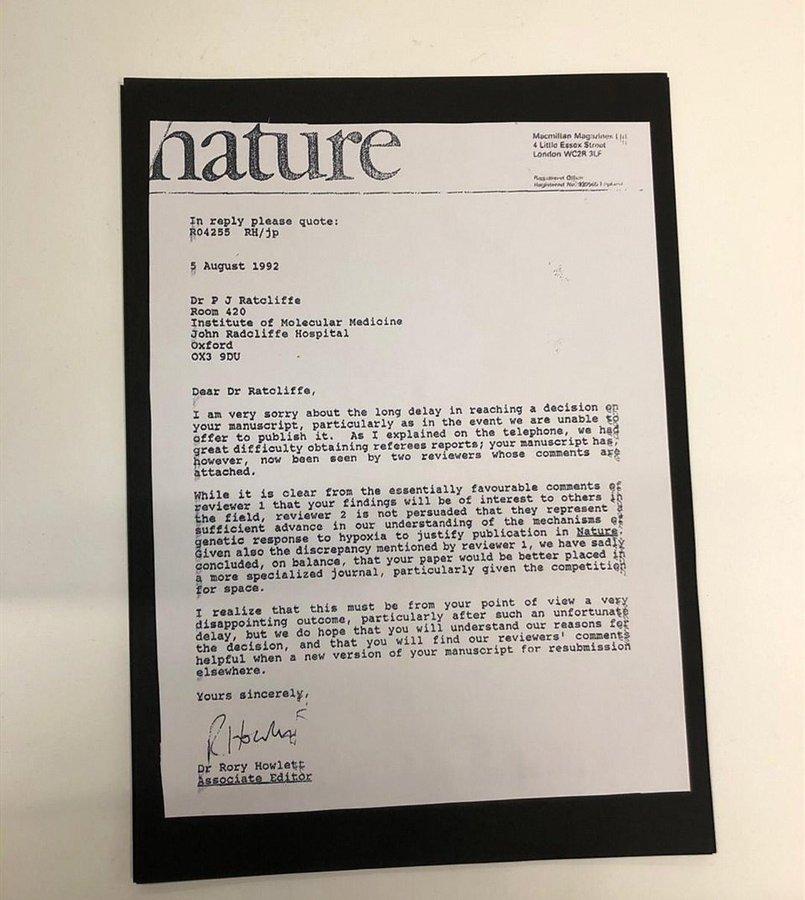A rejeição de artigos e a vitória no Nobel