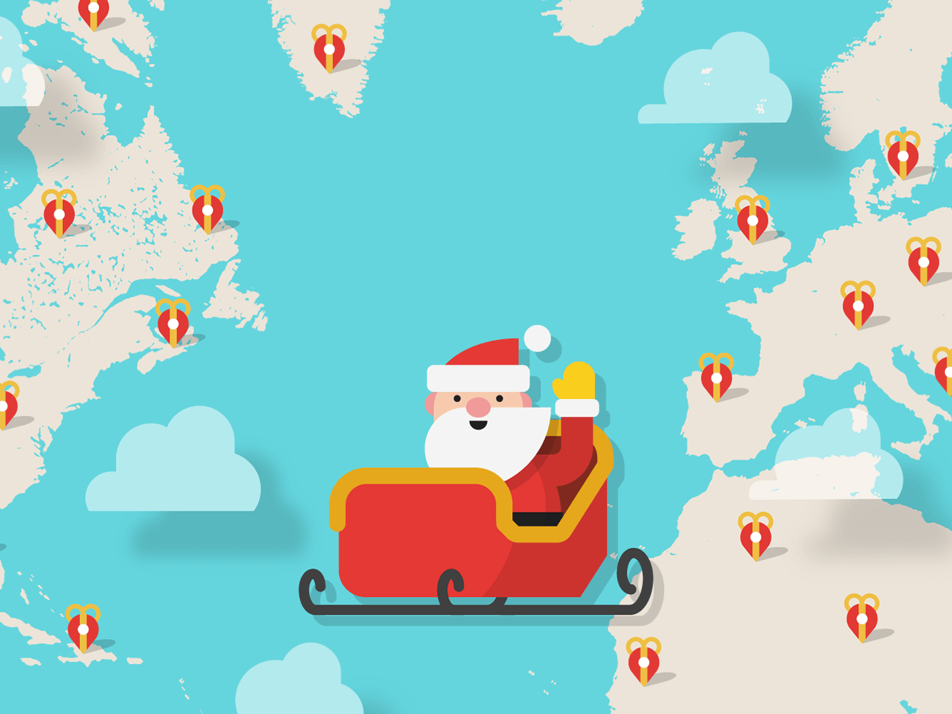 A Santa Tracker (ou como é rápido o Papai Noel!)
