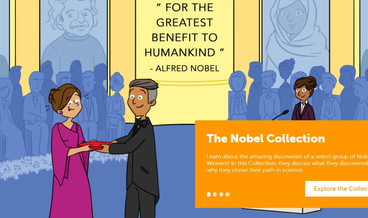 The Nobel Collection e outras iniciativas de divulgação científica por pesquisadores para o público escolar